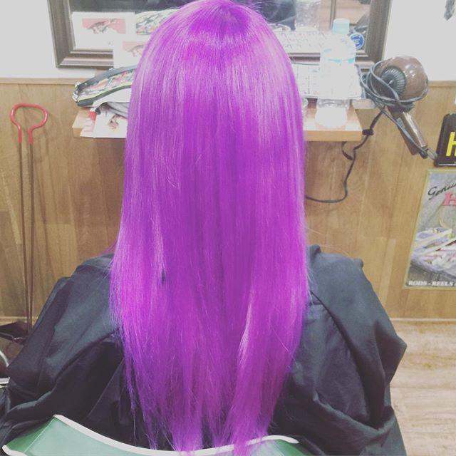 purple hair !!#chicagohairstudio#hairstyle#haircolor#chicago_hair_studio#haircut#hairset#豊橋#豊橋美容院#美容師#散髪#床屋#barber#シカゴスタイル#manicpanic#purplehair#紫#ハイブリーチ