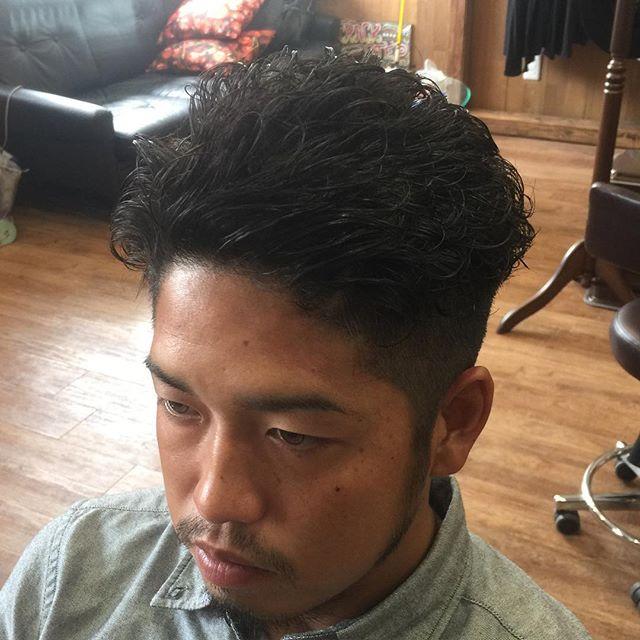 パーマ&カット!!#カット#パーマ#サーファー#ヘアスタイル#surfer#suavecito#pomade#hairstyle#haircolor#chicago_hair_studio#haircut#hairset#豊橋#豊橋美容院#美容師#散髪#床屋#barber#シカゴスタイル#
