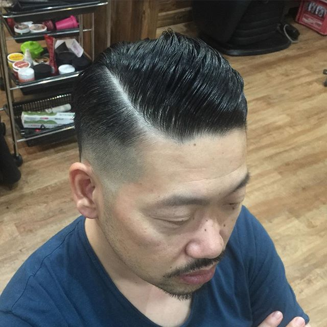 7:3##menshair#pomphair#pomade#suavecito#メンズヘア#ポマード#hairstyle#haircolor#chicago_hair_studio#haircut#hairset#豊橋#豊橋美容院#美容師#散髪#床屋#barber#シカゴスタイル