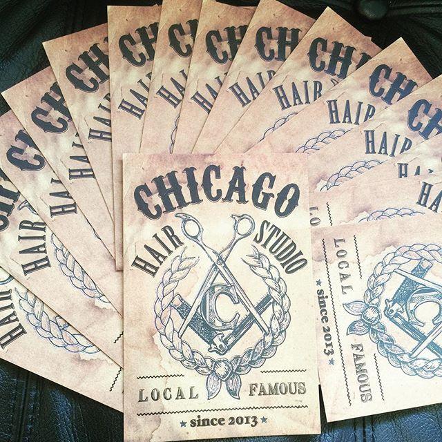 CHICAGO HAIR STUDIOのフライヤーが完成しました!色々な店舗にも置かせて頂いたりしますので見つけたら貰ってやって下さい!!