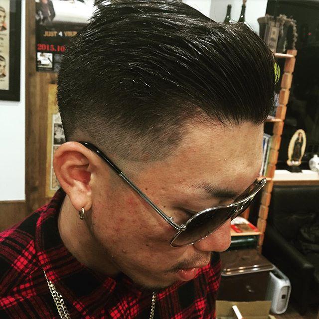 pomp finish !!#toyohashi#豊橋#aichi#愛知t#fashion#ファッション#pomade#pompadour#suavecito#getithombre #hair#cut#美容師#美容院#シカゴスタイル#chicago_hair_studio#chicagohairstudio