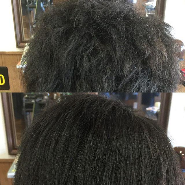 クセ毛でお悩みの方は半永久的にクセ毛の部分をストレートにする縮毛矯正でストレートな髪にする方法もありますのでご相談下さい!!
