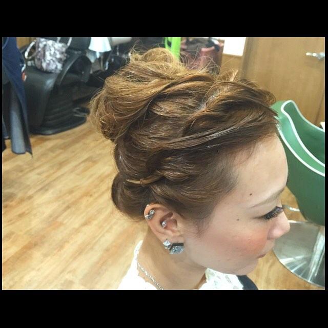 Hair set !!!#hairstyle#haircolor#chicago_hair_studio#haircut#hairset#豊橋#豊橋美容院#美容師#散髪#床屋#barber#シカゴスタイル#chicagohairstudio#hairset#ヘアセット#髪型#美容院