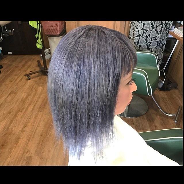 metallic purple hair color!!!#hairstyle#haircolor#chicago_hair_studio#haircut#hairset#豊橋#豊橋美容院#美容師#散髪#床屋#barber#シカゴスタイル#chicagohairstudio