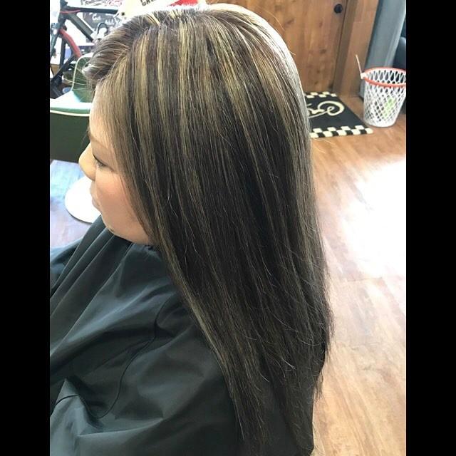 hair color !!!#hairstyle#haircolor#chicago_hair_studio#haircut#hairset#豊橋#豊橋美容院#美容師#散髪#床屋#barber#シカゴスタイル#chicagohairstudio#highlight#balayage#ウィービング#アッシュ#アッシュグレー