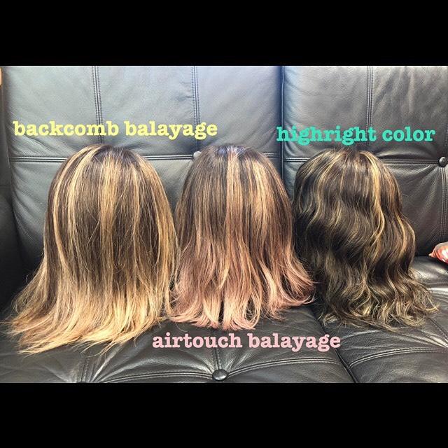 .ハイライトの入れ方やシカゴ流バレイヤージュの種類いろいろ︎.簡単に説明するとバックコームバレイヤージュは簡単に手櫛でラインが出せるようなデザイン︎明るいラインを際立たせたい方にオススメです。エアータッチバレイヤージュはあまりはっきりとはラインが出ないように馴染むようなデザイン︎ナチュラルにグラデーションを楽しみたい方へオススメ。ハイライトカラーは髪の毛の動きを付けるデザイン︎明るいカラーにできにくい方にオススメです。.根元の伸びが気になりにくい、しばったりするときのポイントになります.#豊橋美容院#豊橋#岩田#beautysalon#hairsalon#hairdresser#shorthair#middiumhair#haircut#color#designcolor#chicagohairstudio#シカゴヘアスタジオ#カット#カラー#グラデーションカラー#ハイライトカラー#ナチュラルヘア#ハイトーンカラー#ファッションカラー#ブリーチカラー#バレイヤージュ#シカゴヘアースタジオ#外国人風ヘアー